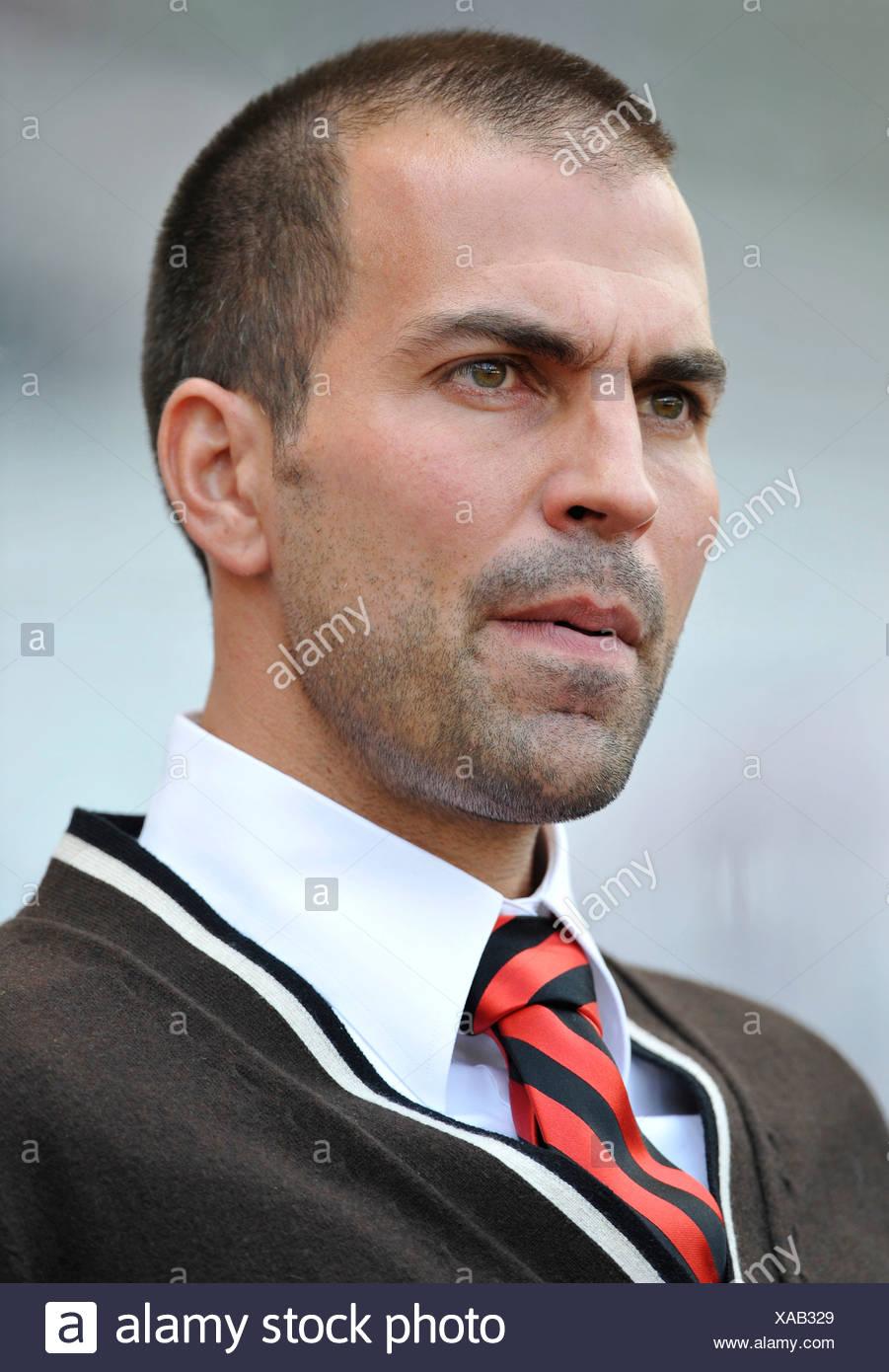 L'entraîneur Markus Babbel, le VfB Stuttgart, tendu Photo Stock