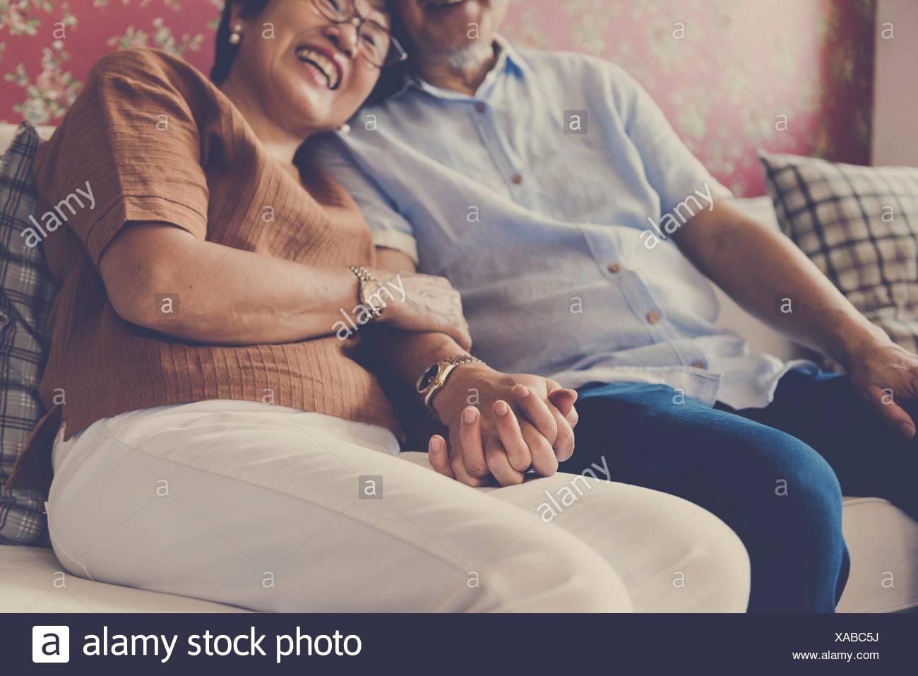 La liaison de famille Relation Affection occasionnels Photo Stock
