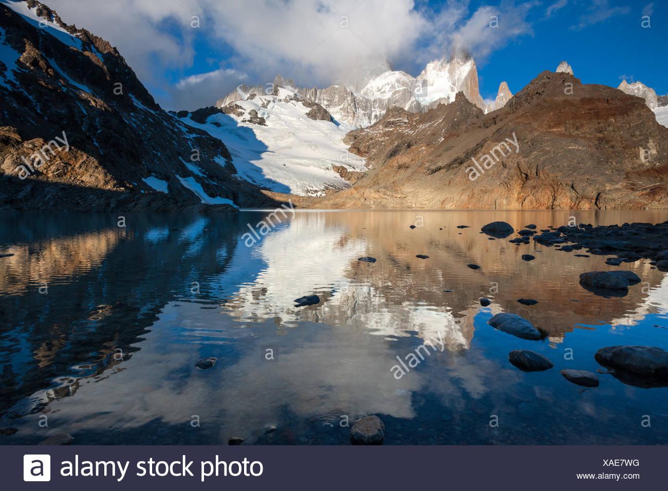 Laguna de los Tres,Argentine,Patagonie Photo Stock