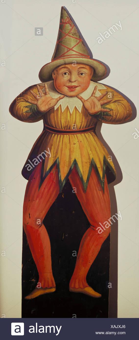 Loisirs / sports, expositions, joke figure, le sud de l'Allemagne, milieu du 19ème siècle, de la marionnette, fête foraine, historique, historique, Additional-Rights-Jeux-NA Photo Stock