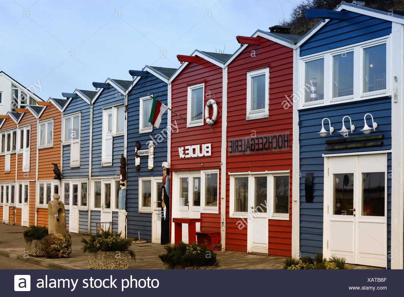 Facades De Maisons En Couleurs helgoland, la mer du nord, les maisons, les façades, de
