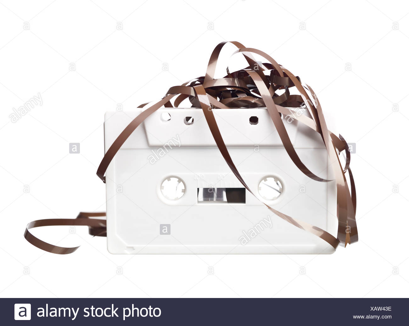 Cassette audio blanc Photo Stock