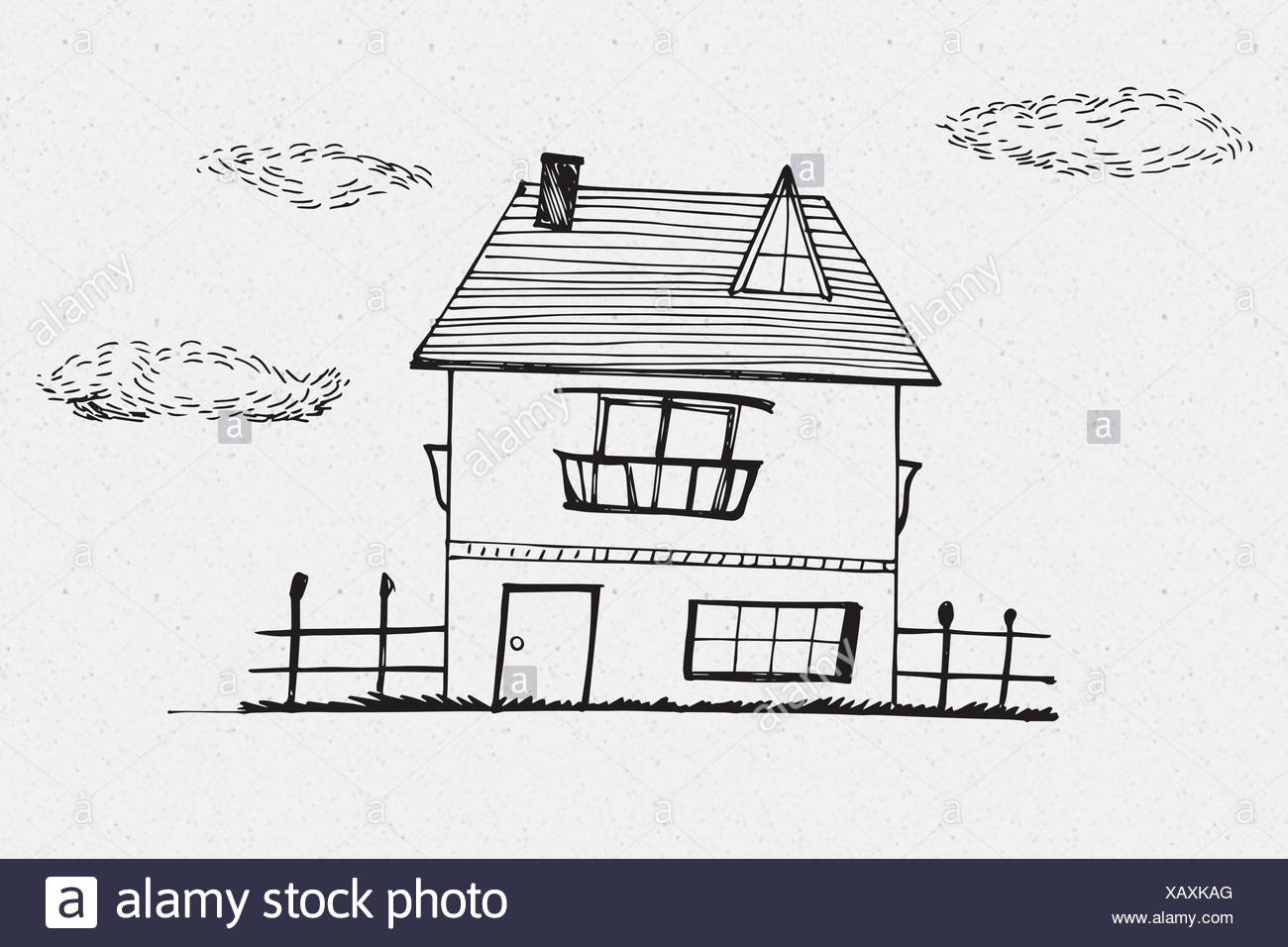 Image composite de la main house Photo Stock
