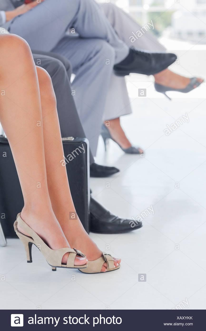 Les jambes des gens d'affaires en ligne Banque D'Images