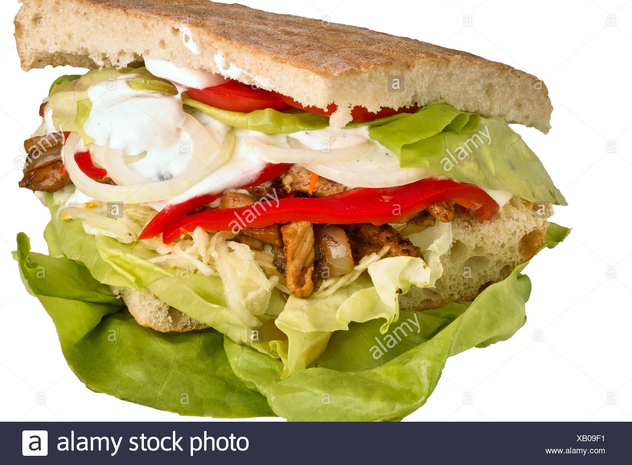 Doner kebab,fast food Photo Stock