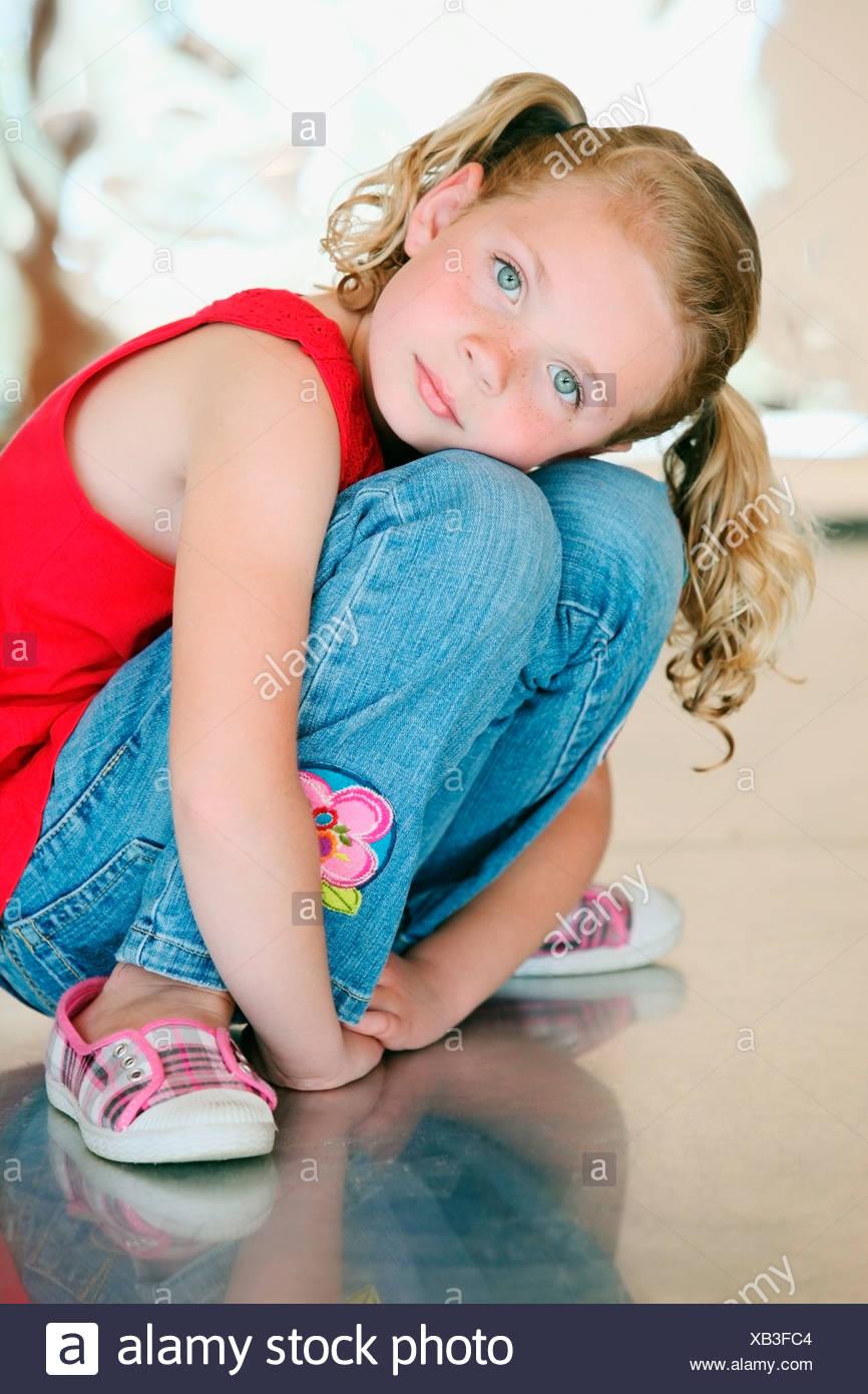 Portrait d'une jeune fille Banque D'Images