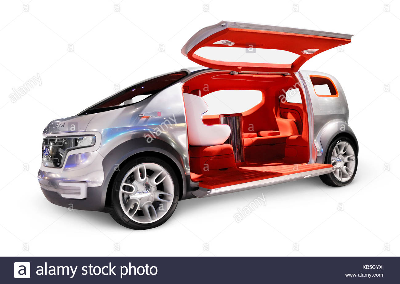 Ford Airstream concept car crossover futuriste, powered by HySeries Drive plug-in hybride hydrogène les piles à combustible Photo Stock