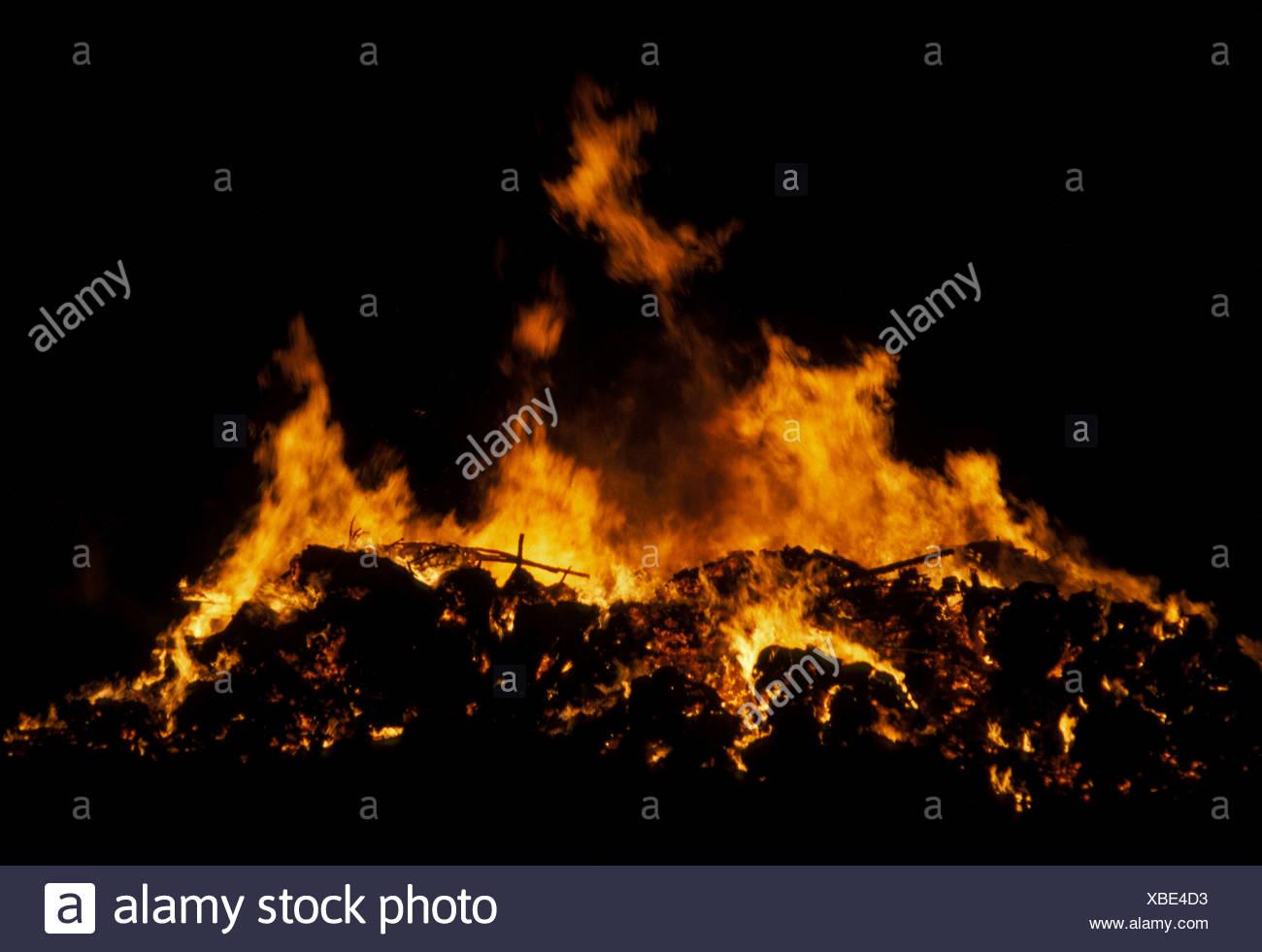 Le Bonfire Bonfire flammes Photo Stock
