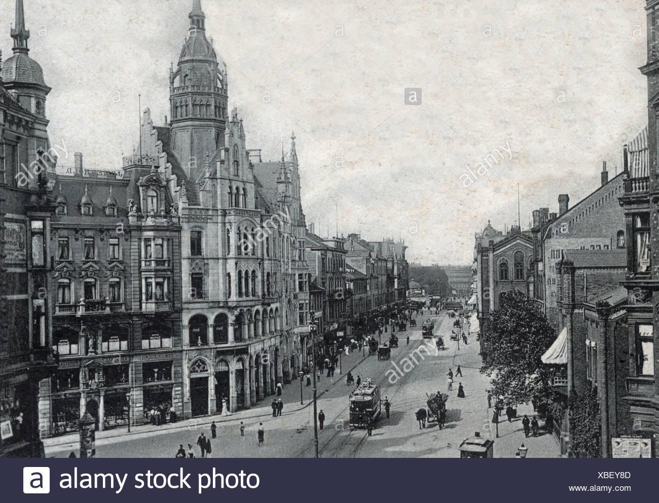 Carte Allemagne Hannover.Carte Postale Historique Vers 1900 Hannover Allemagne Banque