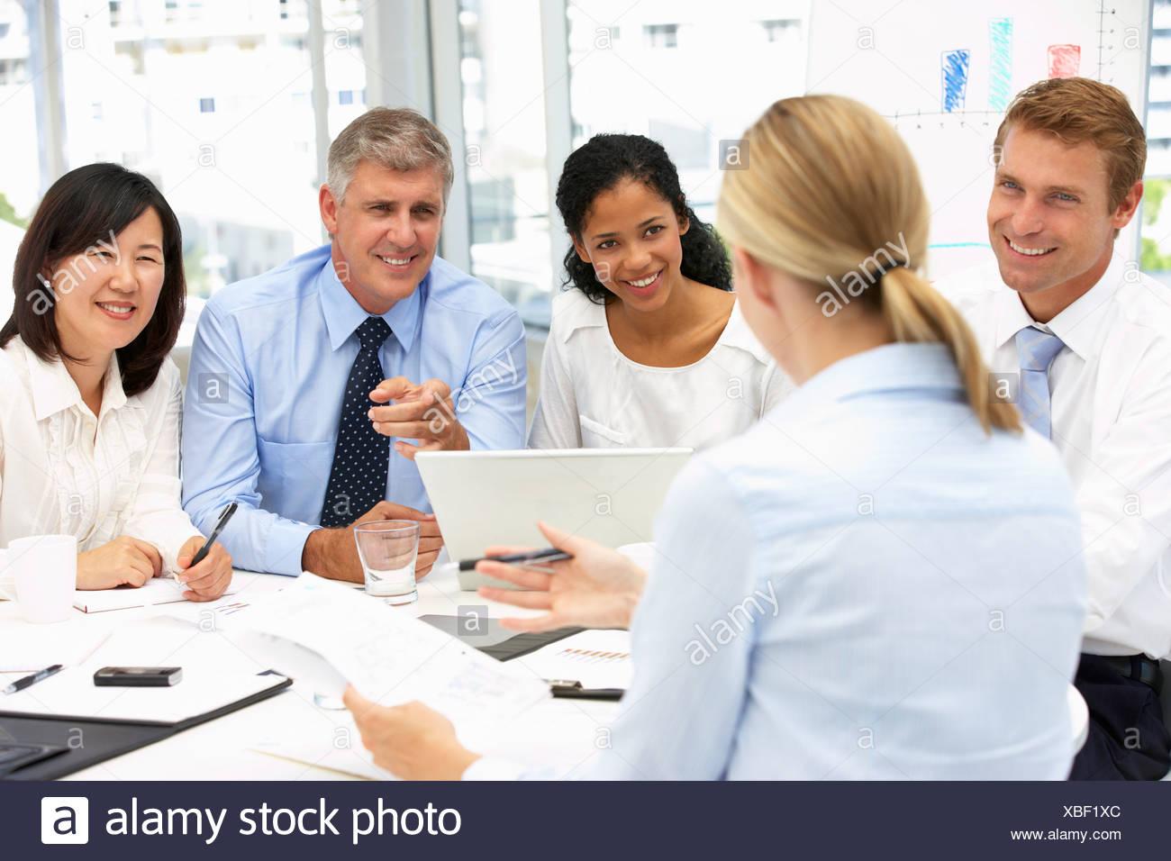 Réunion du bureau de recrutement banque dimages photo stock