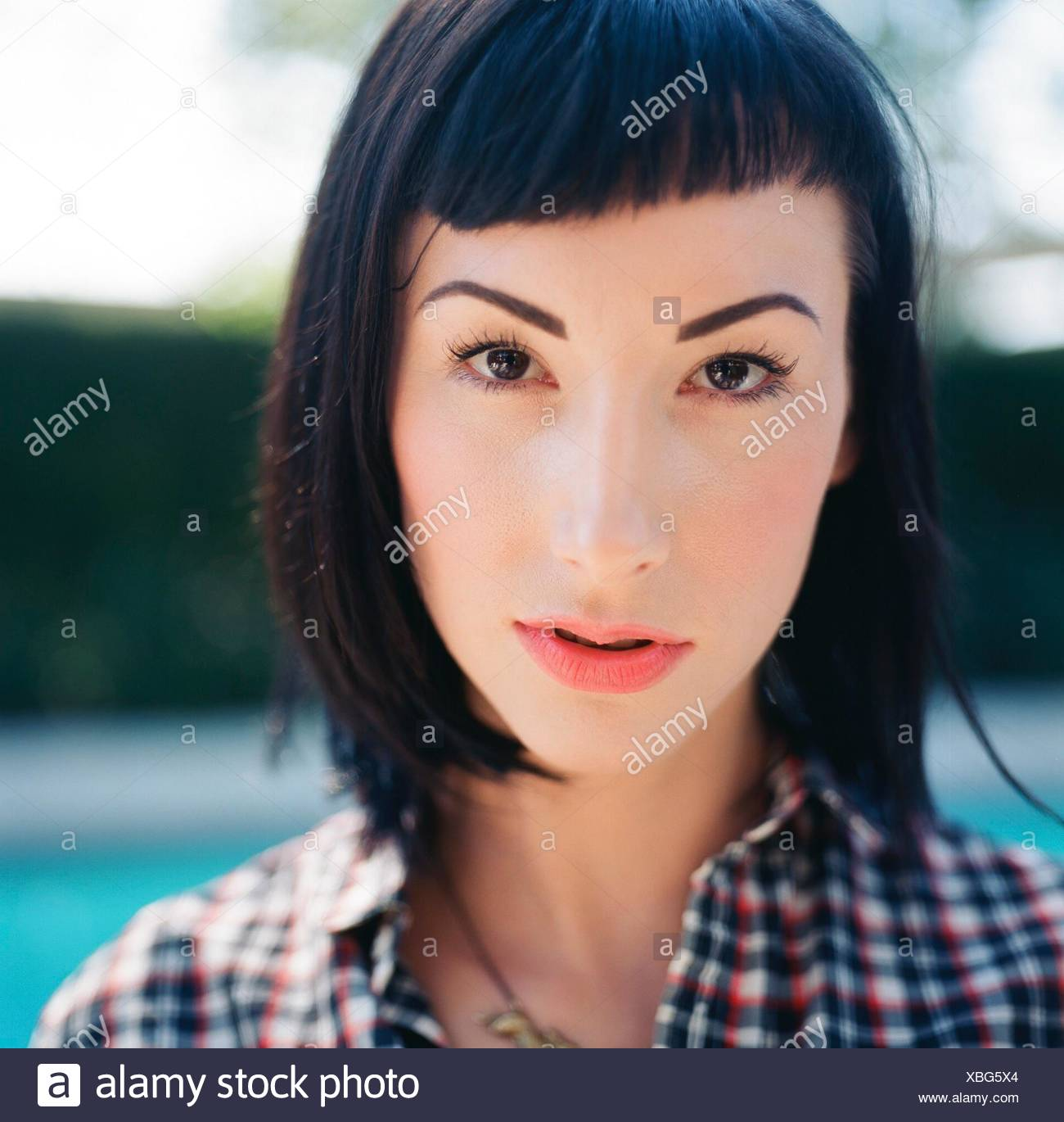 Extreme Close Up Portrait Of A young woman Photo Stock