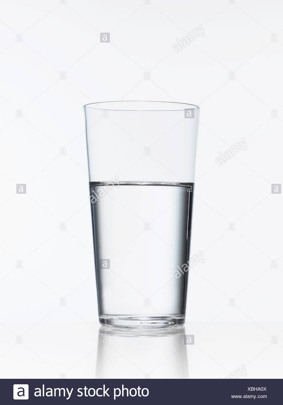 Portrait de verre d'eau Photo Stock