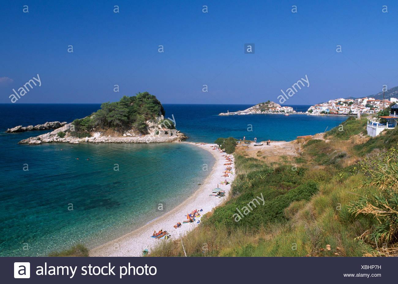 Kokkari Beach, l'île de Samos, Grèce, Europe Photo Stock
