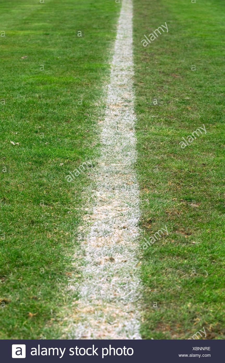 L'écart de la terrain de football Photo Stock