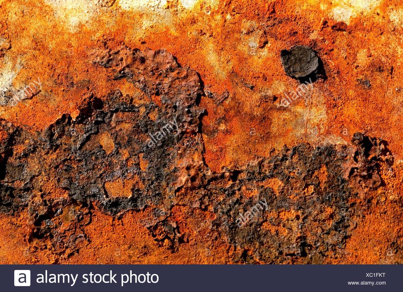 Close up de métal rouillé, délabré Photo Stock