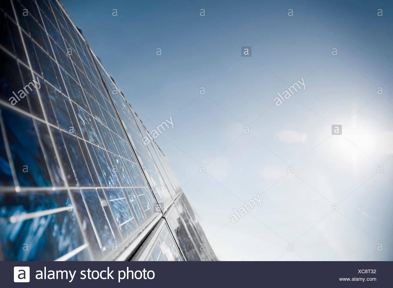 Panneaux solaires, Bavière, Allemagne Photo Stock