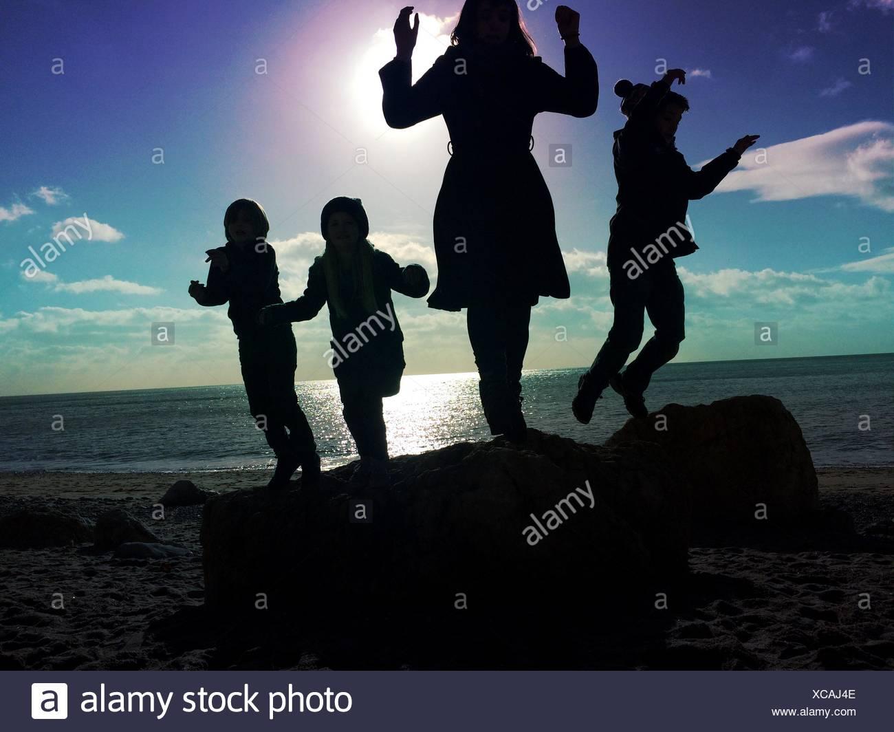Les personnes bénéficiant à la Sky Photo Stock