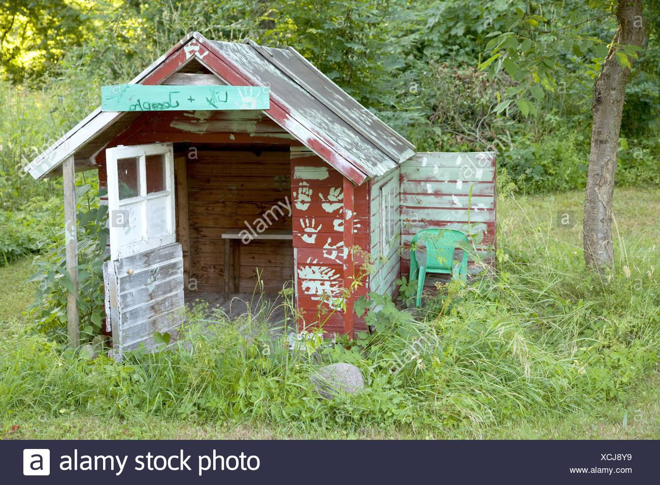 Jardin, cabane en bois, chambre enfants, maison en bois ...