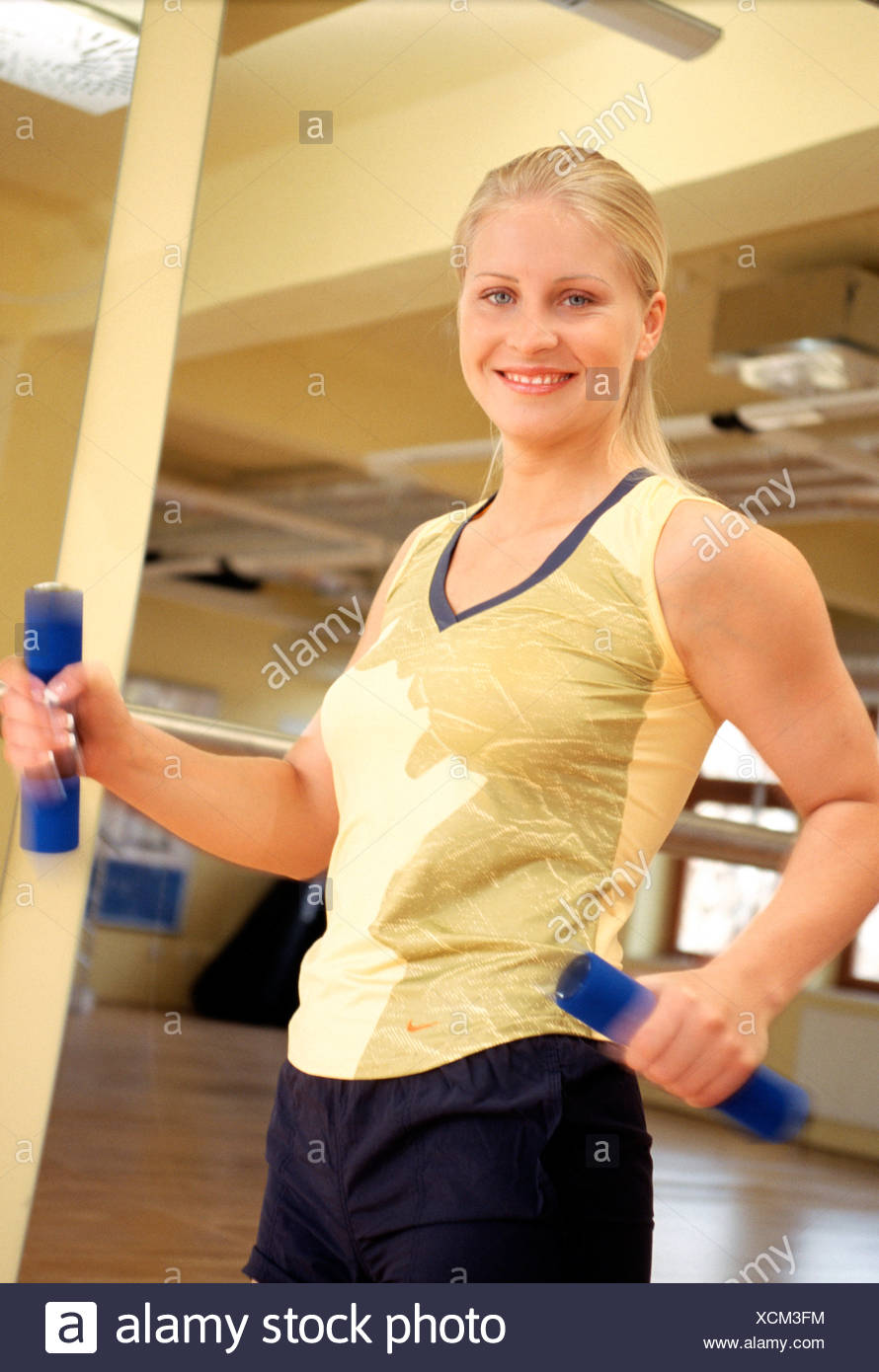 Femme à la formation de sport Photo Stock