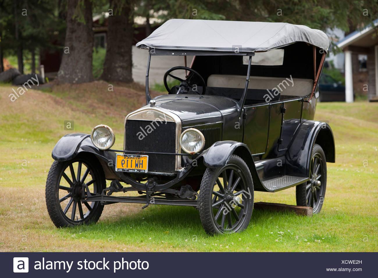 Voiture historique, automobile, Ford Modèle T, Tin Lizzie, Flivver Photo Stock