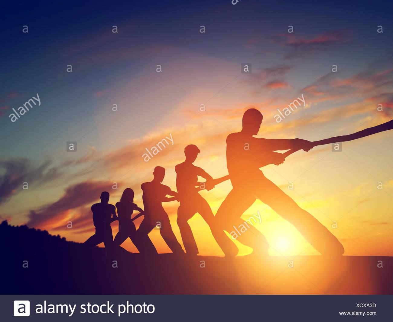 Groupe de personnes Photo Stock