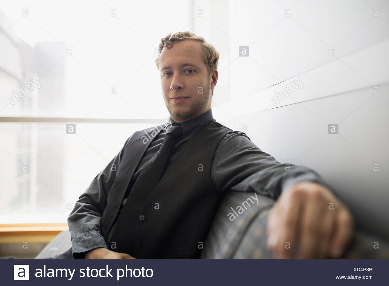 Confident businessman Portrait Photo Stock