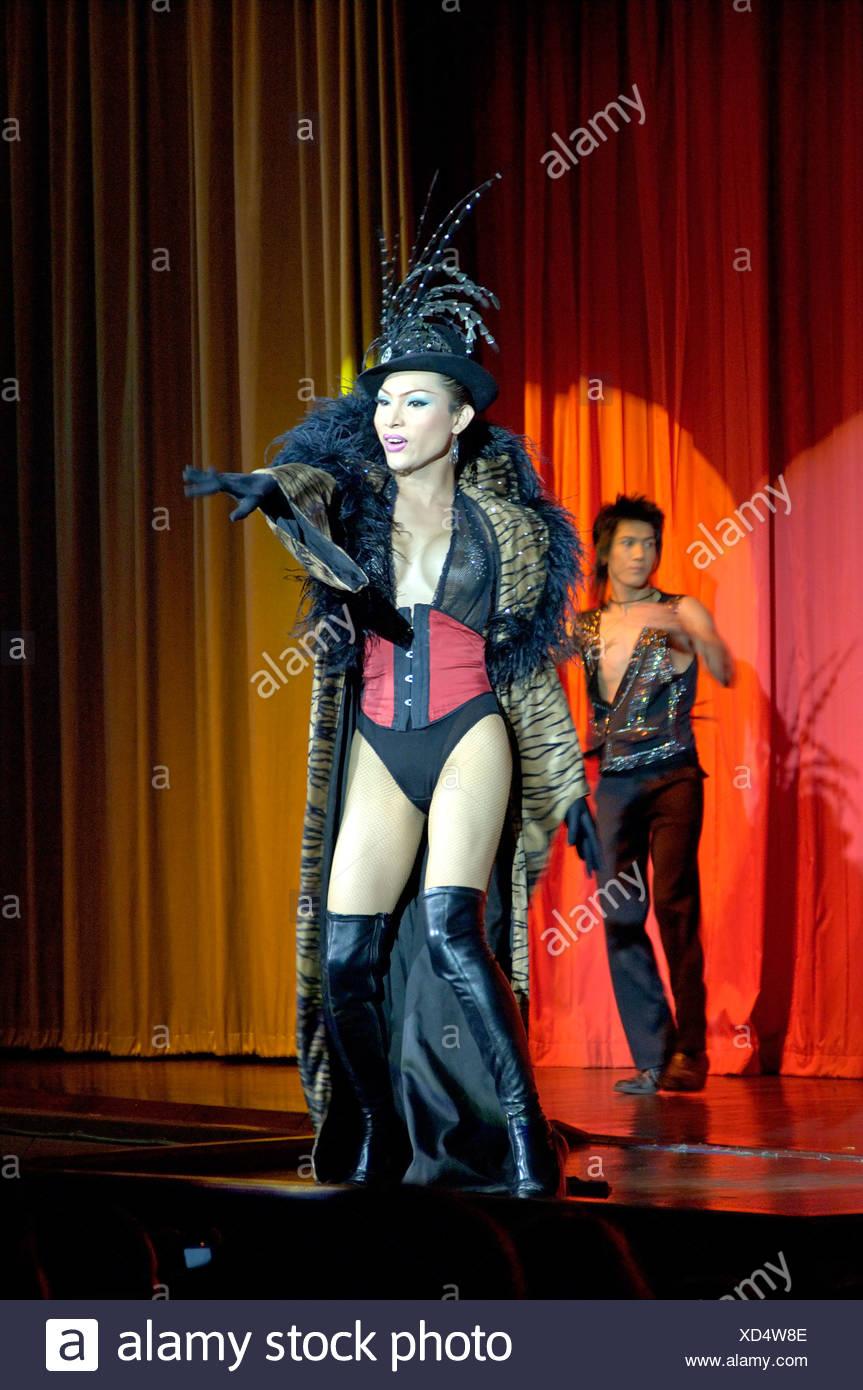 Show de drag sur Phuket, Thaïlande Photo Stock