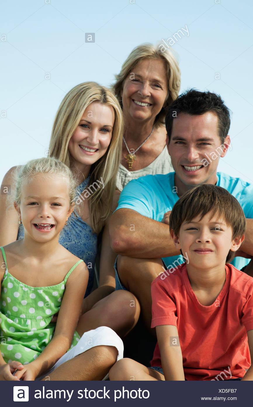 Multi-generation family, portrait Photo Stock