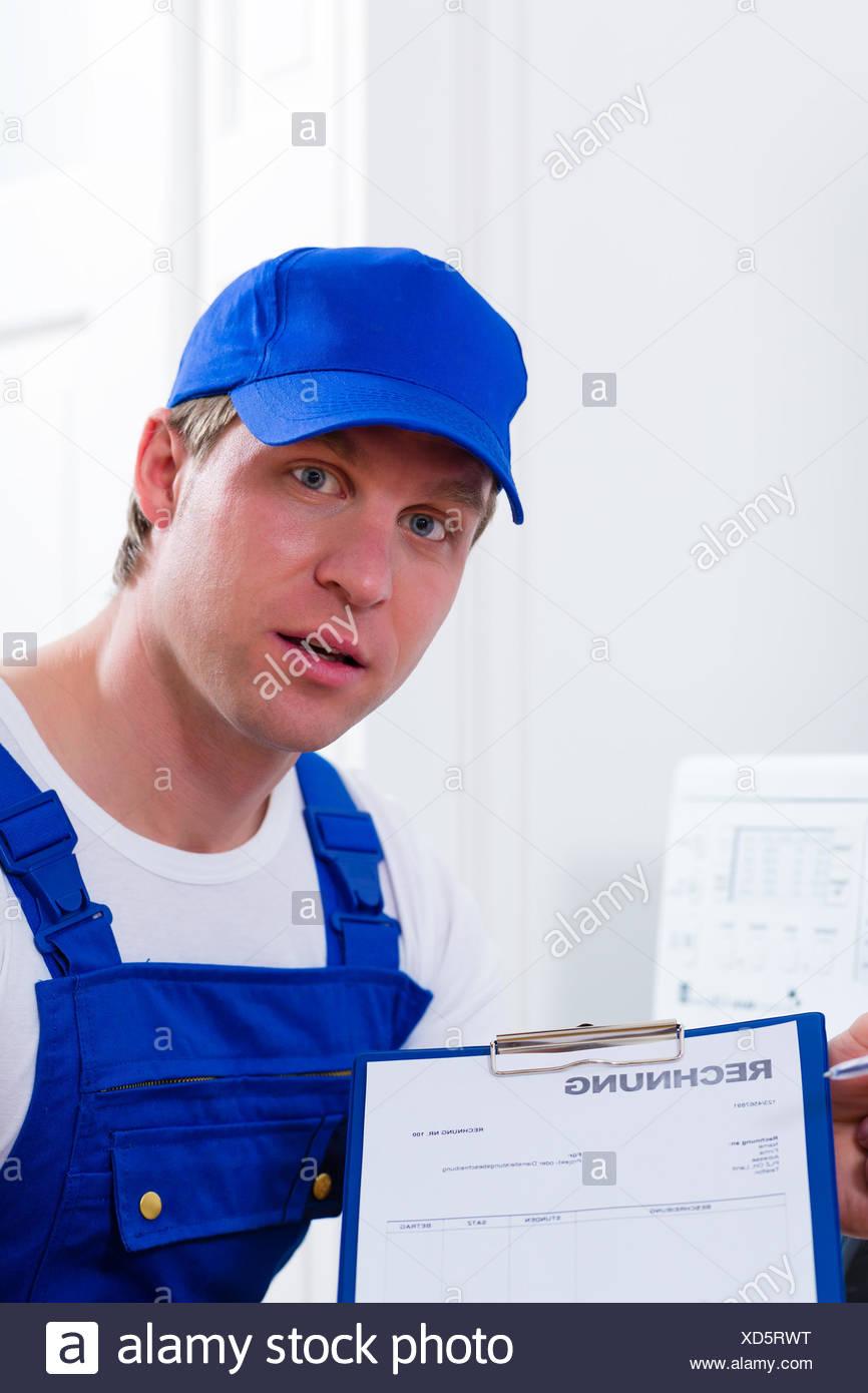 Personne à fournir un service, service, artisan, commerçant, artisan, Photo Stock