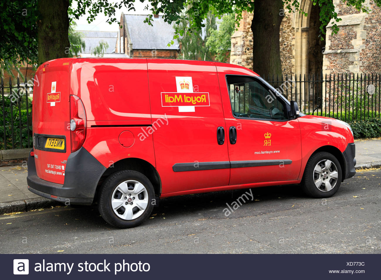 Royal Mail van, véhicule, England, UK, véhicules cars transports Photo Stock