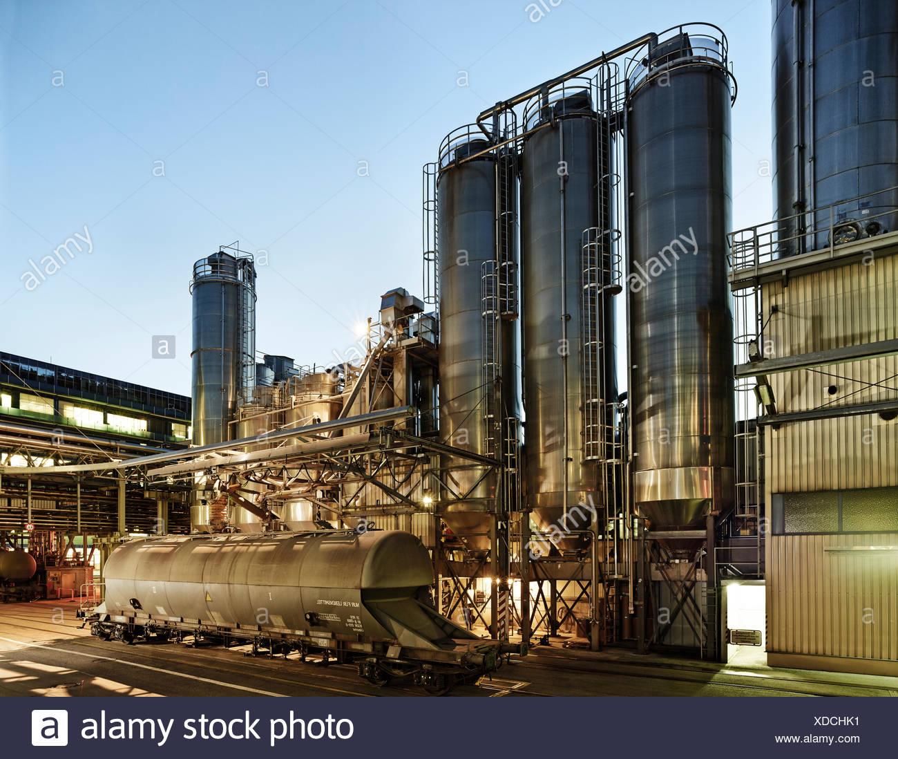 Installations industrielles, installations de production, industrie pharmaceutique, Kundl, Tyrol, Autriche Photo Stock
