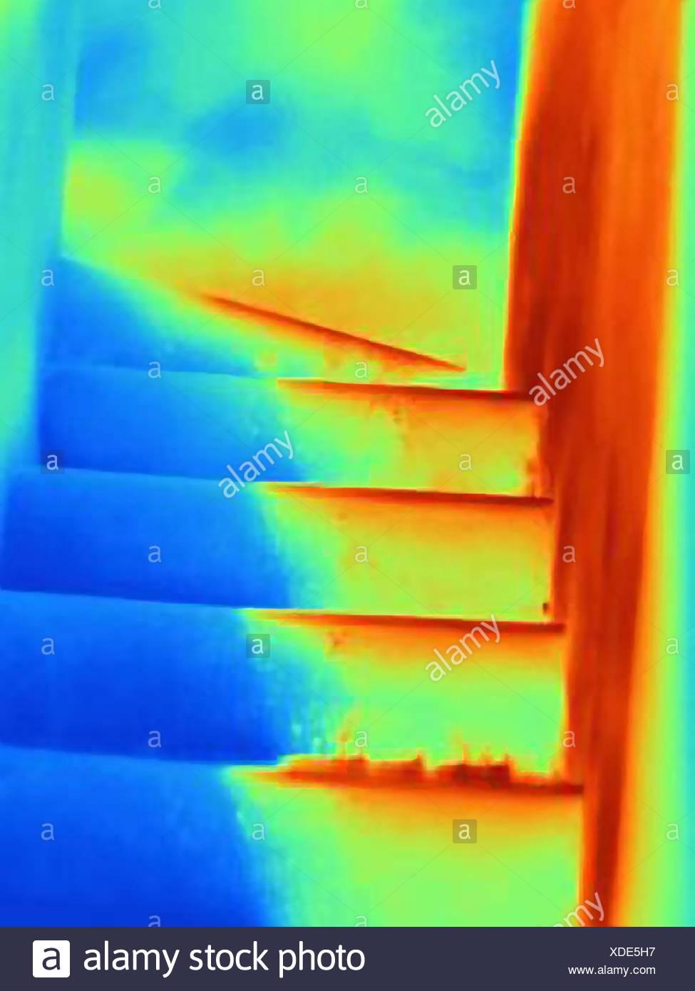 Image thermique d'escalier Photo Stock