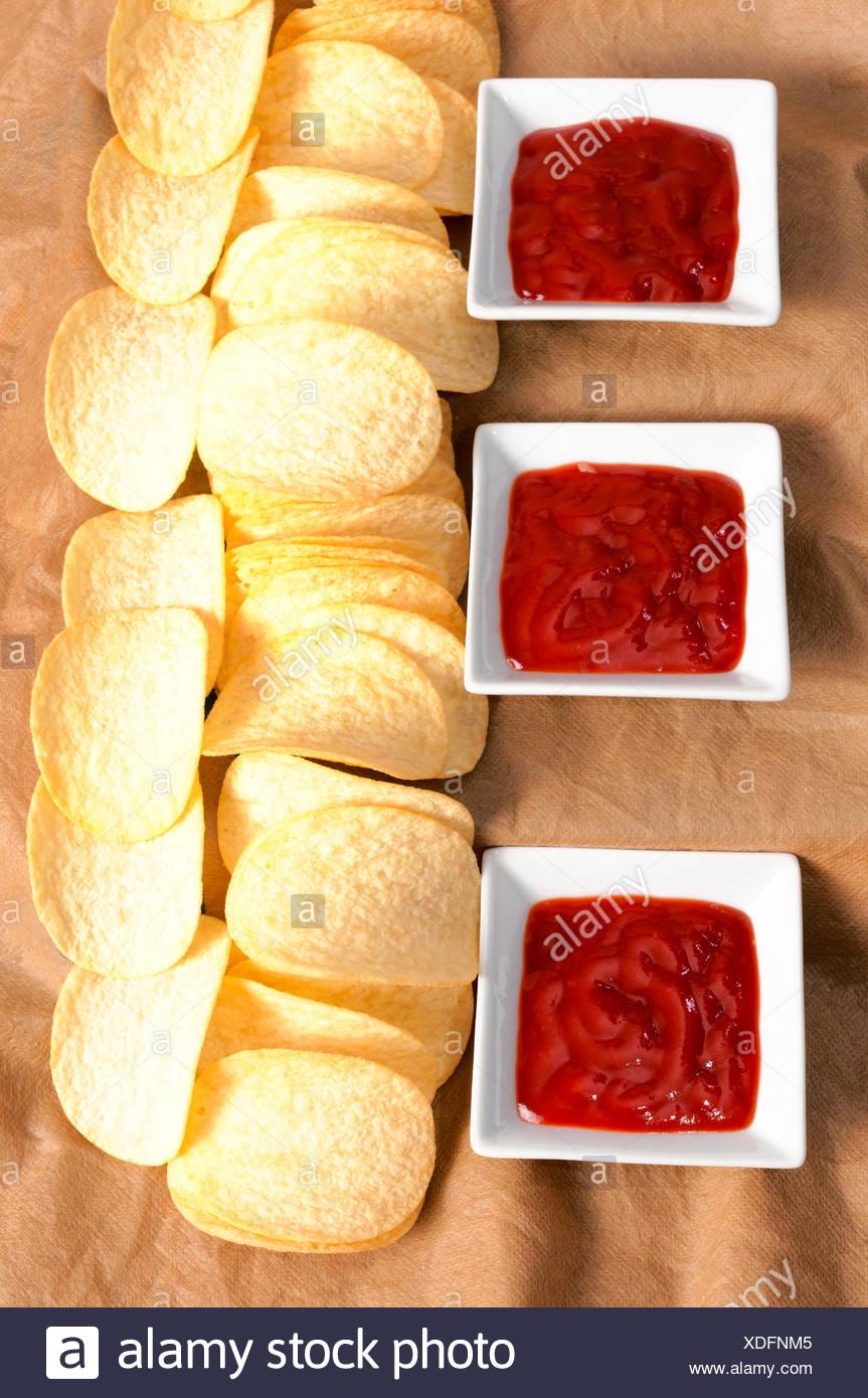 Chips de pomme de terre Photo Stock