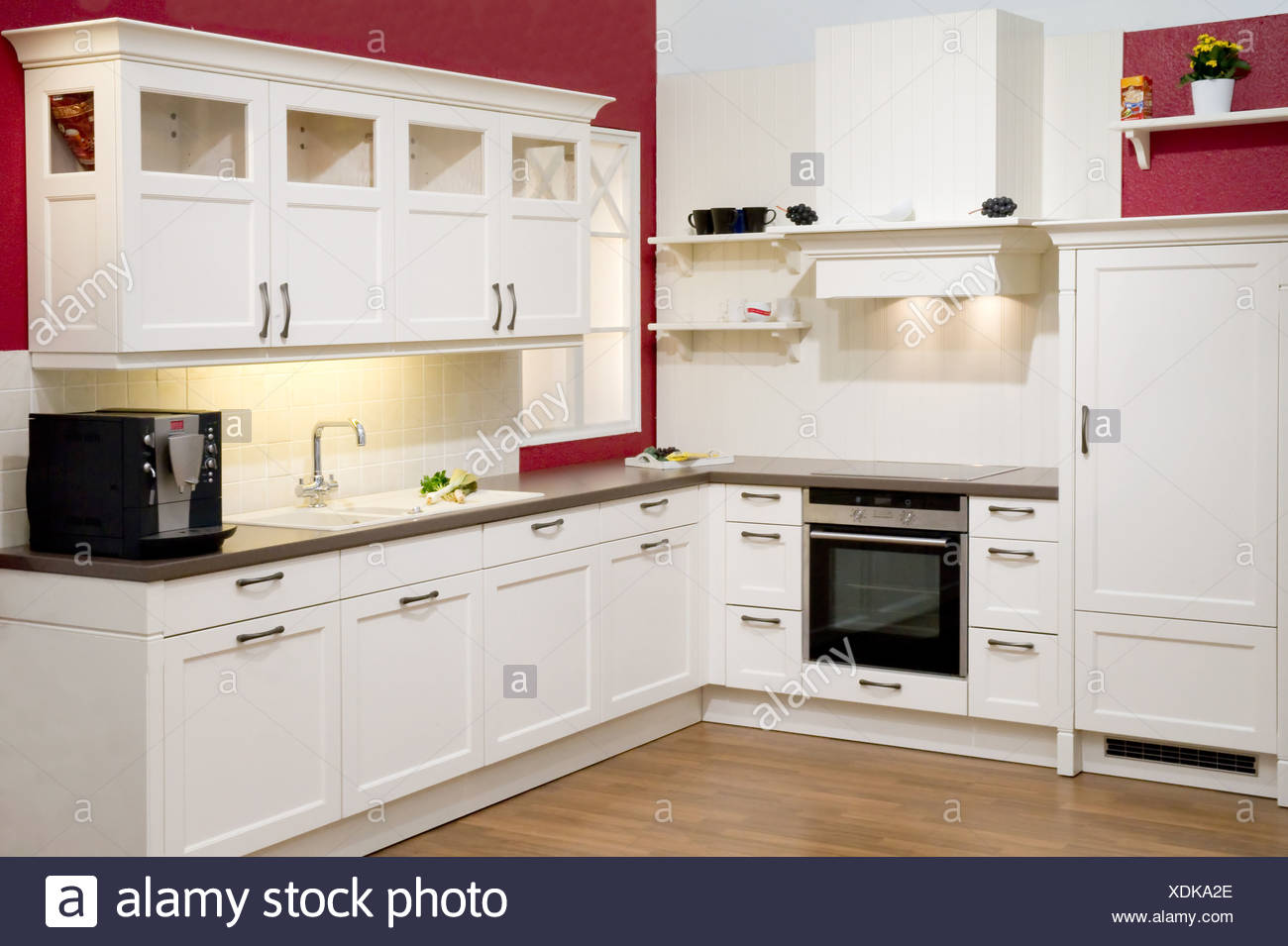 moderne cuisine quip e moderne einbauk che banque d 39 images photo stock 283781414 alamy. Black Bedroom Furniture Sets. Home Design Ideas