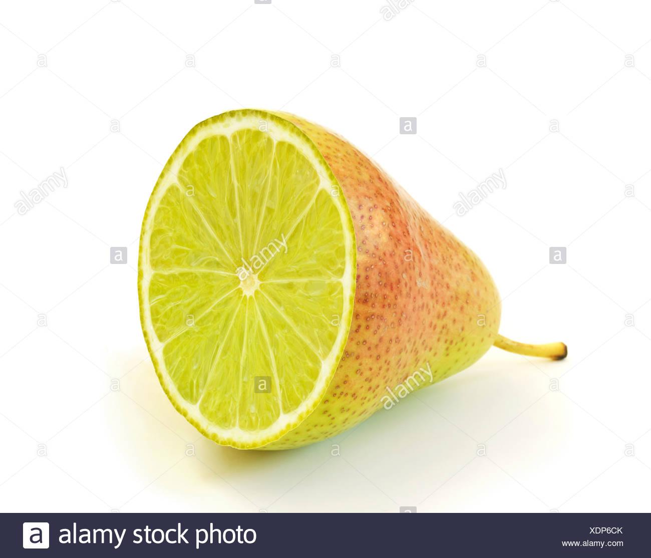 Artwork de fruits génétiquement modifiés. Photo Stock