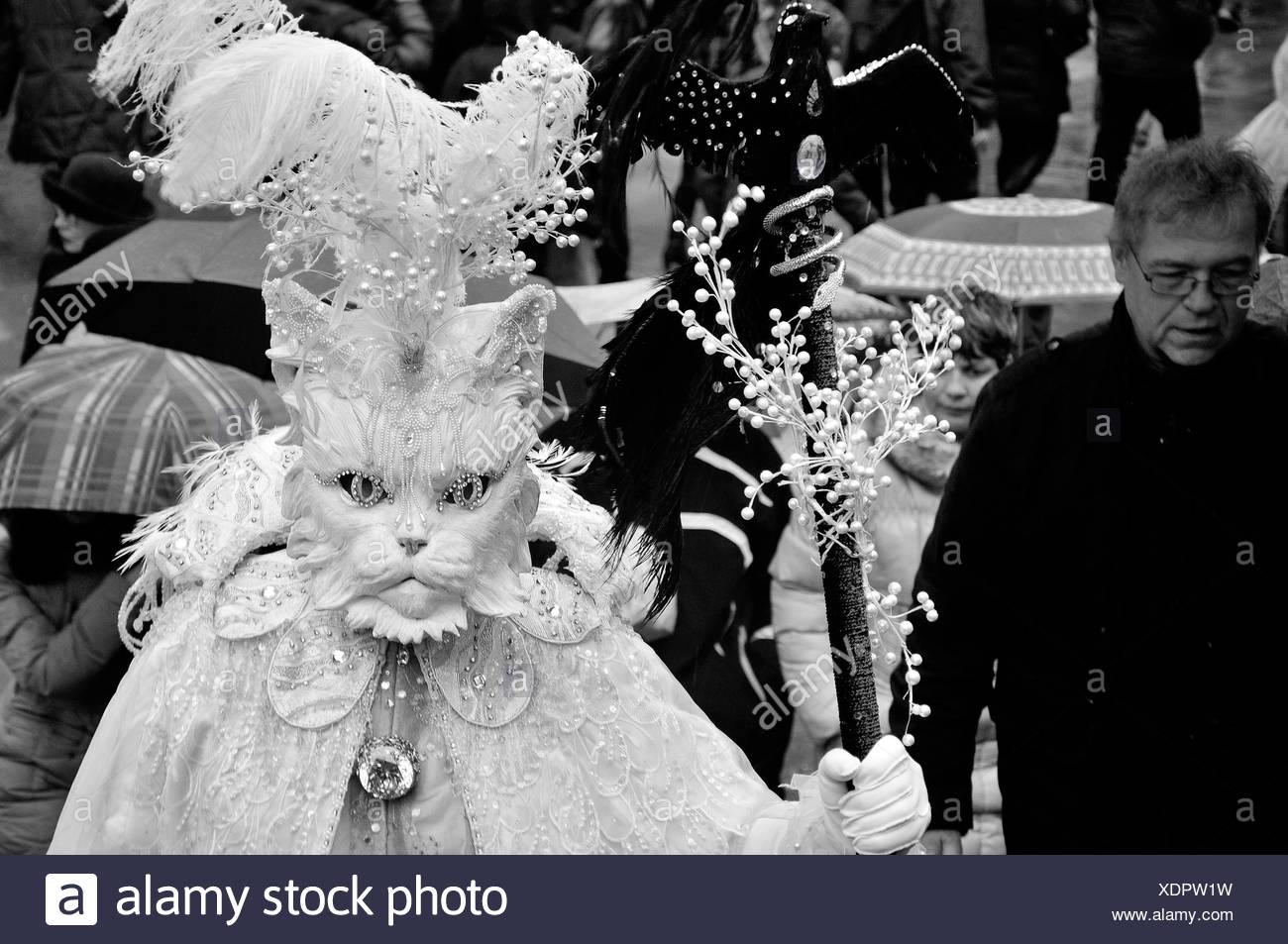 Carnaval de Venise masque de fonctionnalités. Italie Banque D'Images