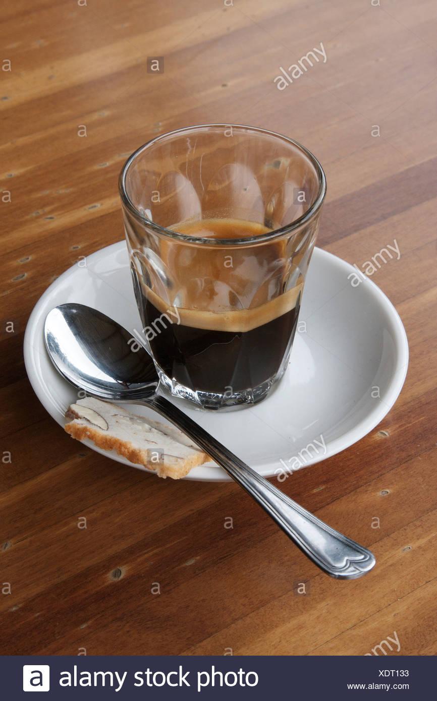 Cuillère à café expresso Photo Stock