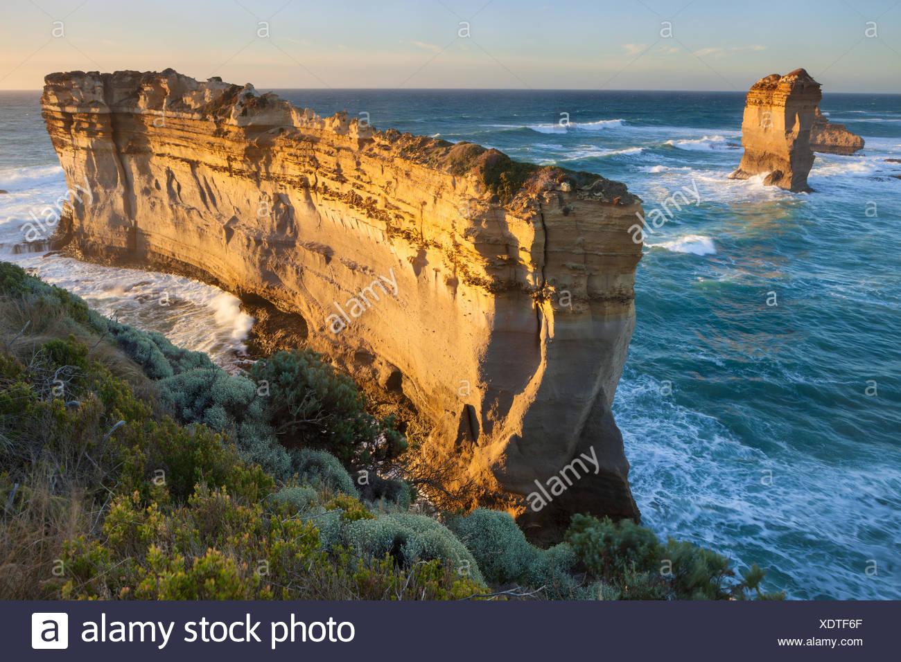 Razorback, l'Australie, Victoria, port Campbell, parc national, mer, côte, rock, falaise, Photo Stock