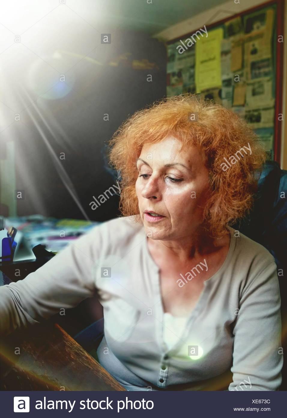 Portrait of Senior Woman Photo Stock