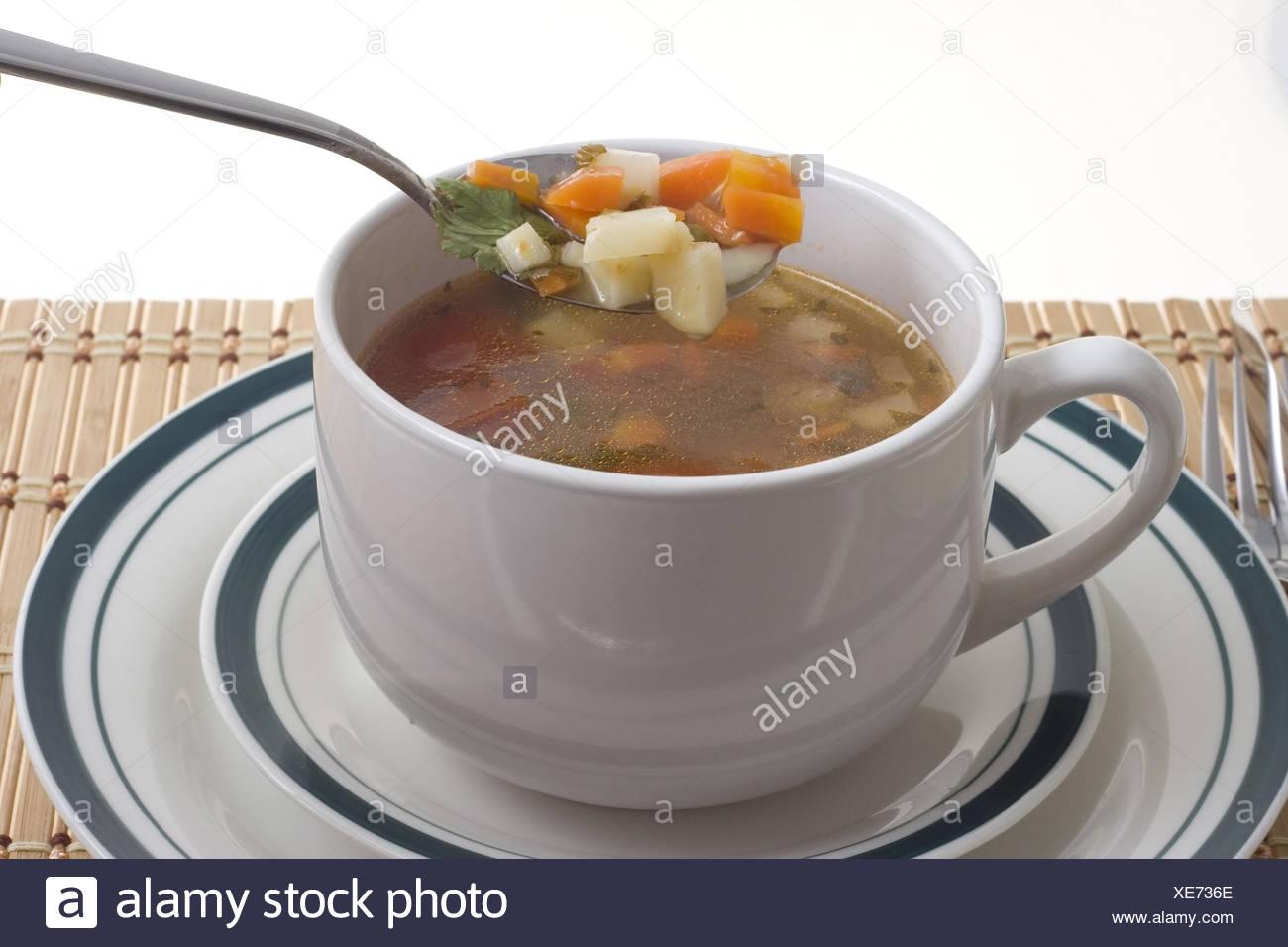 dégustation de soupe Banque D'Images