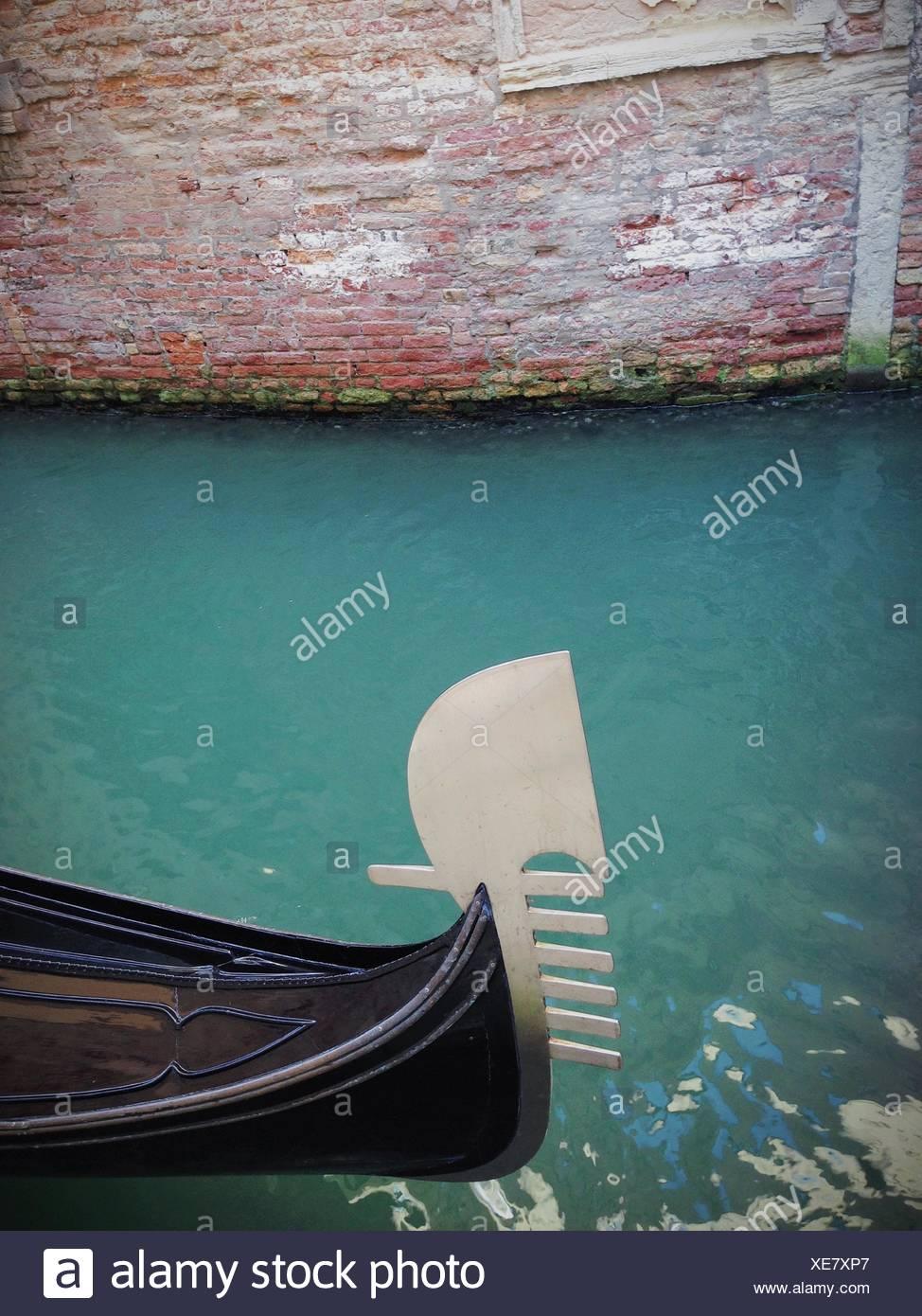 L'Italie, Venise, ornement typique de bateaux Photo Stock