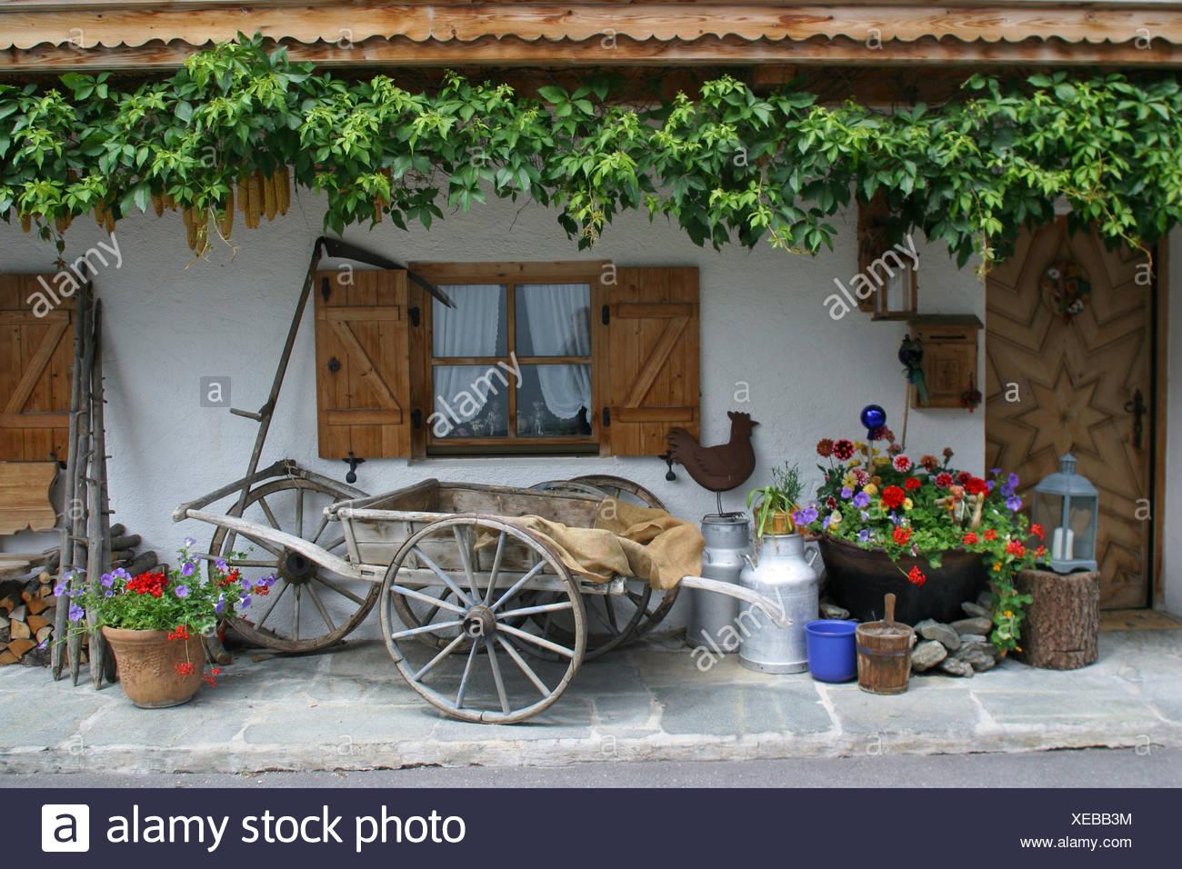 Plante Haute En Pot l'allemagne, la haute-bavière, mittenwald, ferme, façade