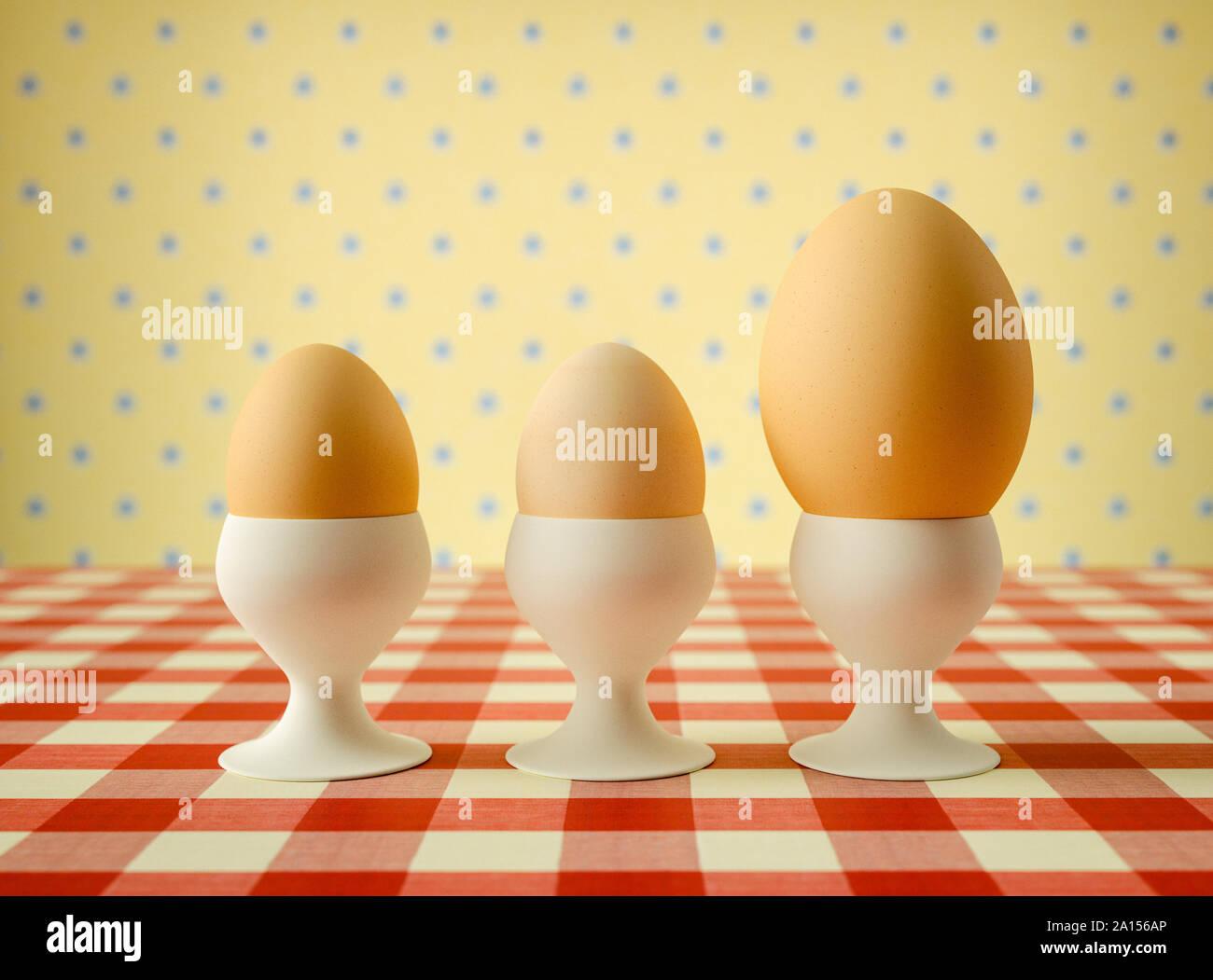 Set di quattro uova in portauova COLAZIONE CIBO GRATIS UK