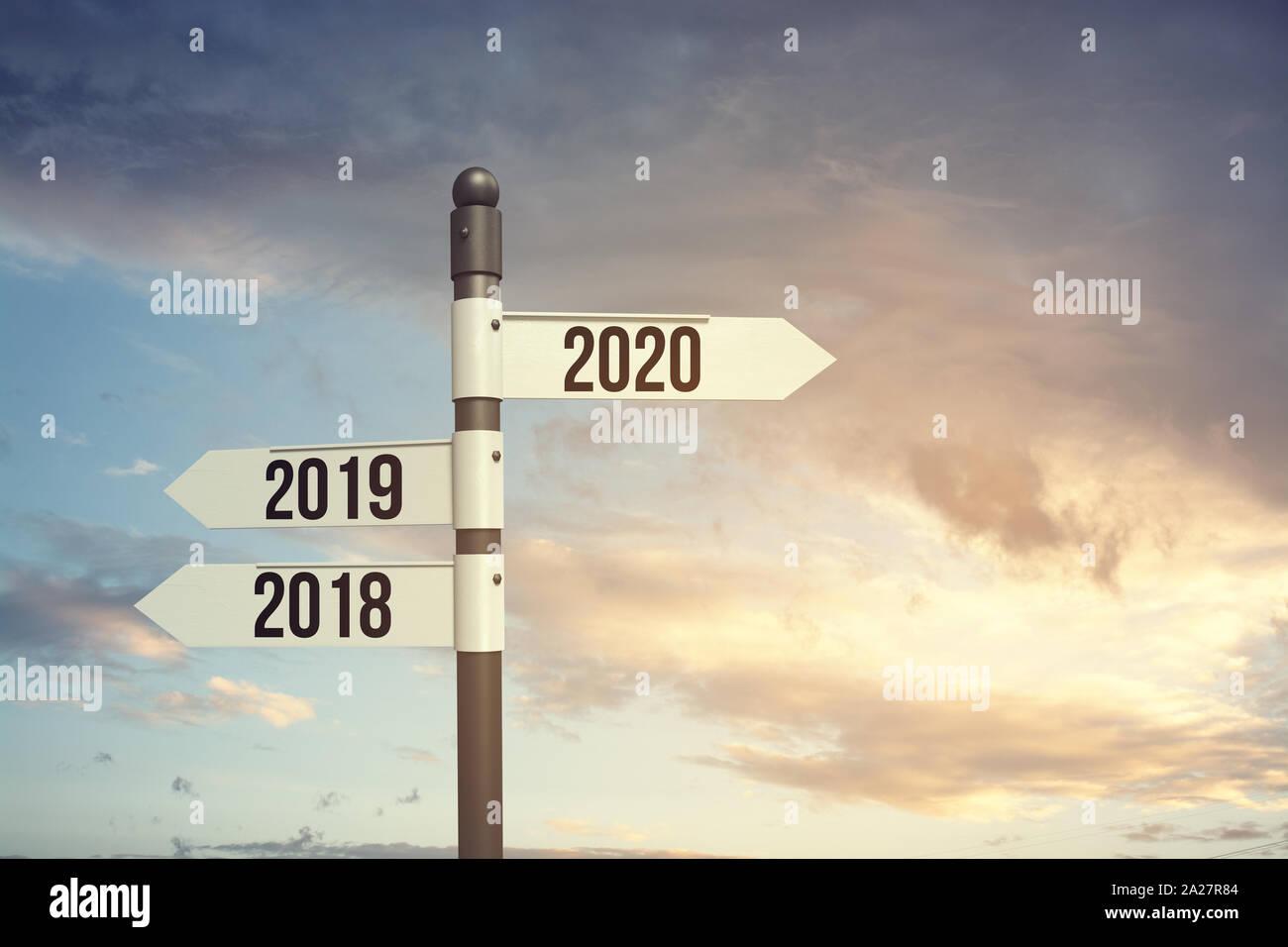 2020 nuovo inizio, nuova speranza, nuovo inizio con il nuovo anno Foto  stock - Alamy
