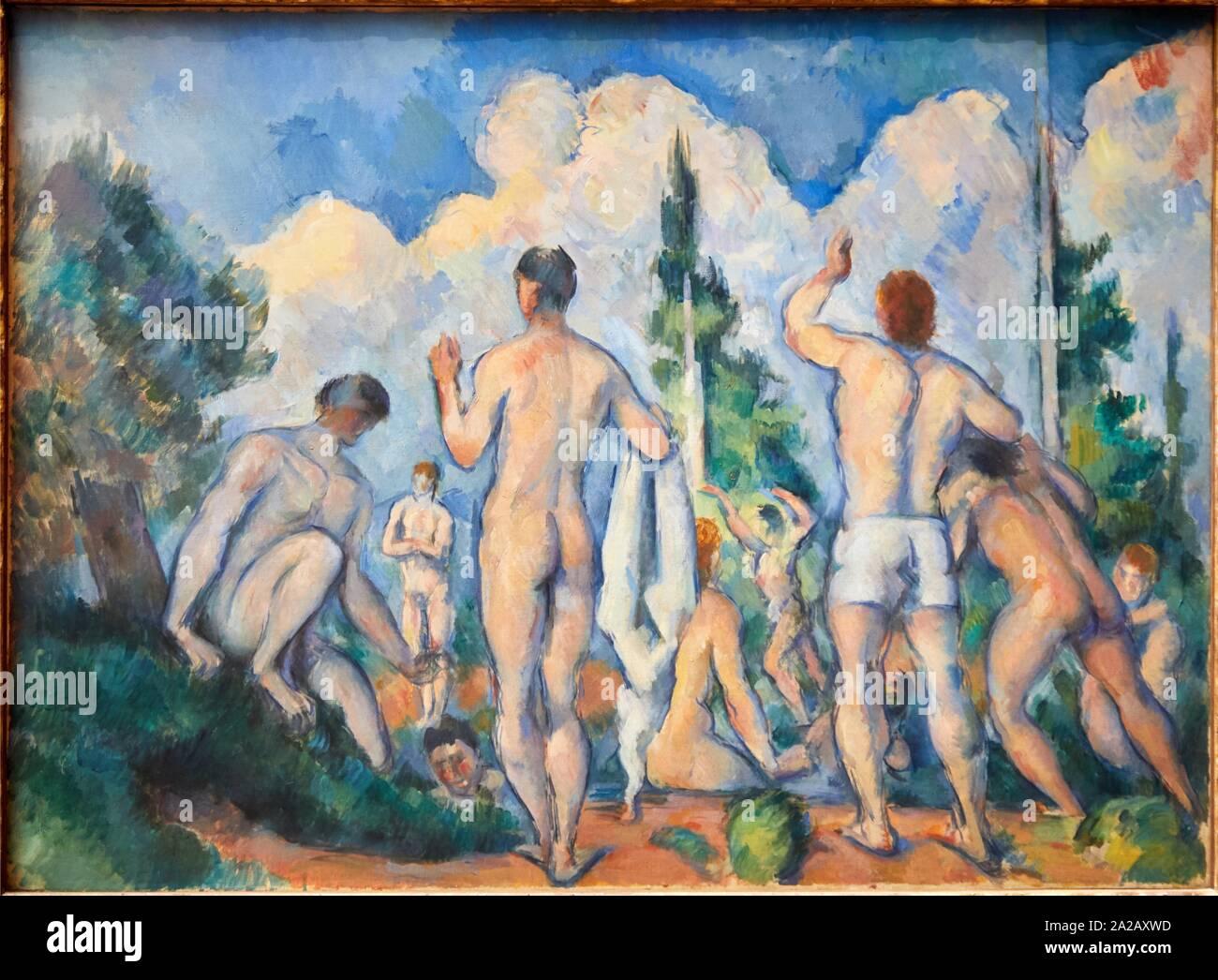 '''Baigneurs'', 1890, Paul Cézanne, 1839-1906, Musée d'Orsay, Parigi, Francia, Europa Foto Stock