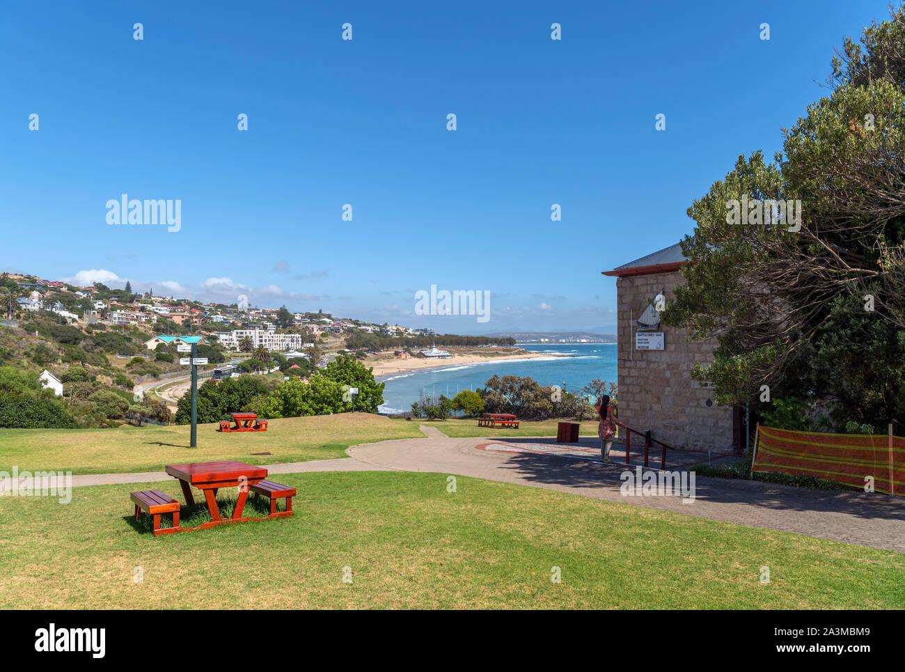 Santos beach vista dal Dias complesso museale, Mossel Bay, Garden Route, Western Cape, Sud Africa Foto Stock