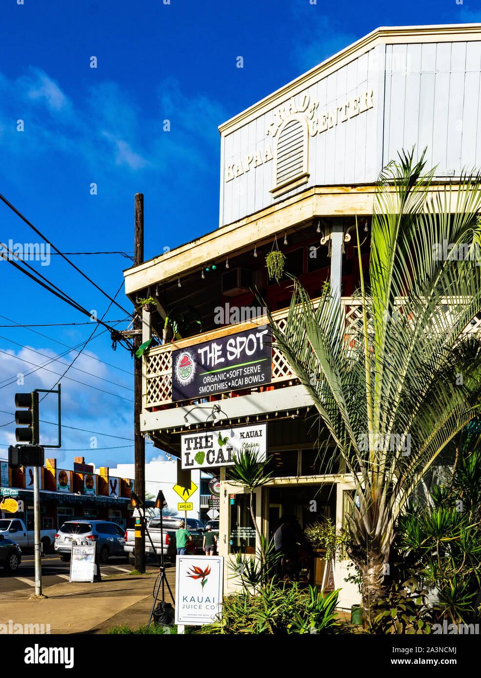 Bar, Main St, Kapaa, Kauai, Hawaii, Stati Uniti Foto Stock