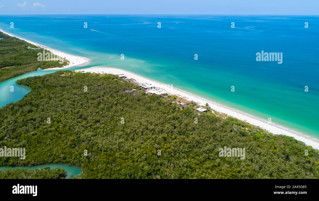 Pelican Bay area di Napoli nel sud-ovest della Florida vicino a Fort Myers e Marco Island, destinazione popolare per benestanti di persone che vivono negli Stati Uniti Foto Stock