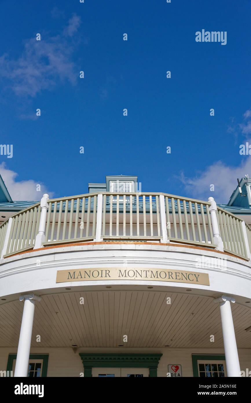 Dettaglio del Manoir Montmorency, a scivoli de Montmorency, Quebec, Canada Foto Stock