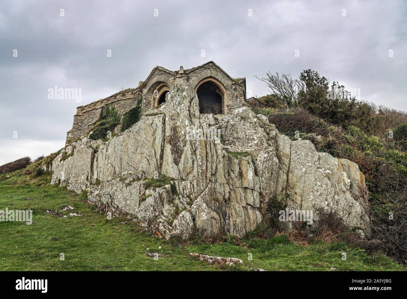 Regina Adelaides Grotta, costruito nel 1826, al fine di Earl's Drive sulla penisola di rame Foto Stock